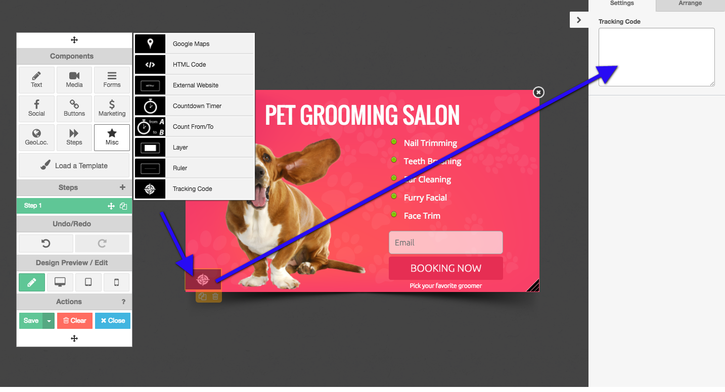 retargeting pixel in grow