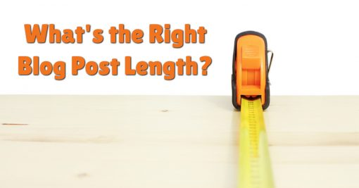 What's the Right Blog Post Length?